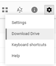 backup google drive settings